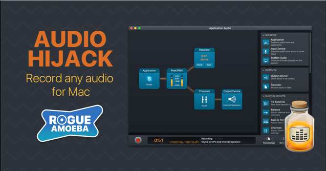 Audio Hijack Pro grabar audio en mac