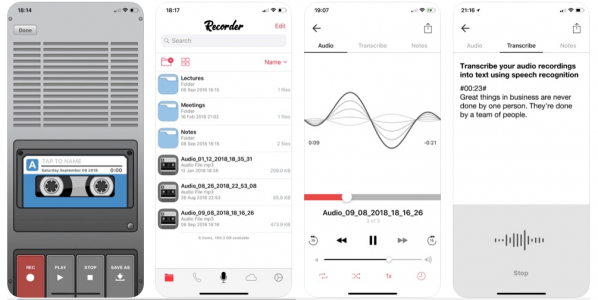 grabar audio iphone Voice Recorder & Audio Editor