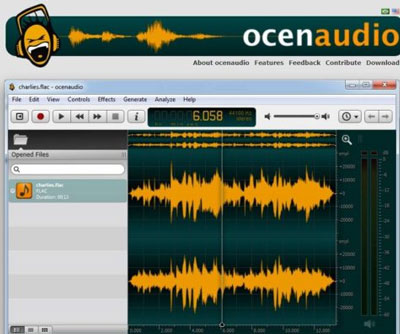 grabar audio en windos con Ocenaudio
