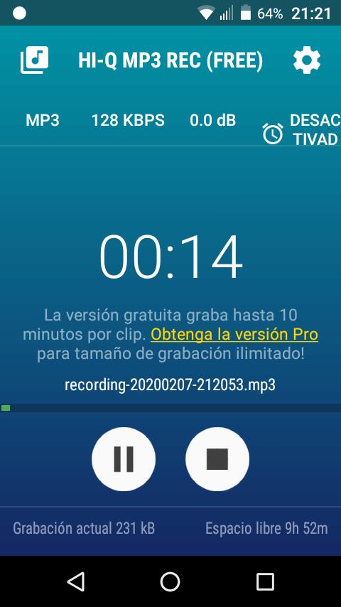 Hi-Q MP3 Grabador de voz