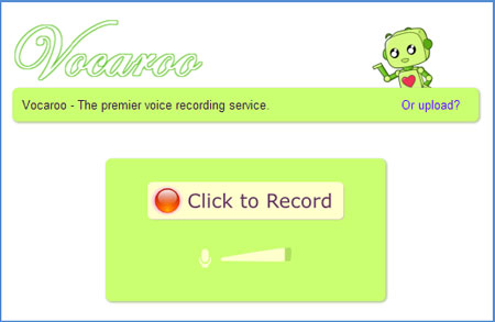 Vocaroo grabar audio online