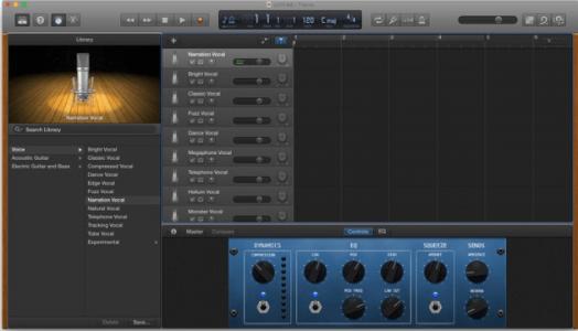garageband interfaz grabar audio en mac