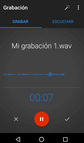 Grabar audio en celular