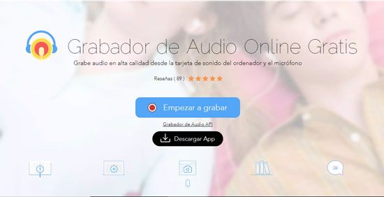 grabador de audio online de apowersoft